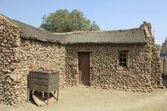 老镇露天博物馆在金伯利金刚石矿 免版税库存照片