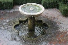 老镇马拉加Alcazaba喷泉 库存照片