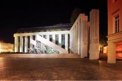 老镇,华沙 起义纪念碑 免版税库存照片