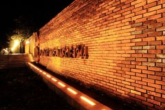 老镇,华沙 起义纪念碑 图库摄影