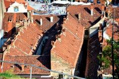 老镇,布拉索夫, Transilvania的中心 免版税库存图片