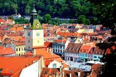 老镇,布拉索夫, Transilvania的中心 库存图片