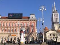 老镇-萨格勒布克罗地亚 免版税库存照片