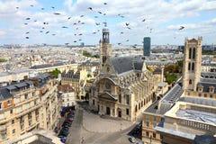 巴黎老镇 库存图片