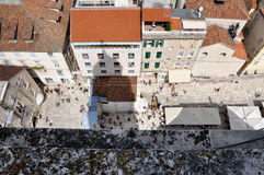 老镇(Stari毕业)分裂的,克罗地亚 库存照片