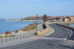 老镇Nessebar,保加利亚看法  库存图片