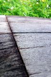 老长木凳纹理,白花 库存图片
