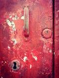 老门匙孔和把柄 图库摄影
