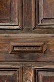 老门和letterbox槽孔安地瓜 免版税库存图片