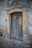 老门在墨西哥村庄 图库摄影