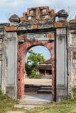 老门在阮朝皇家王宫颜色的 库存照片