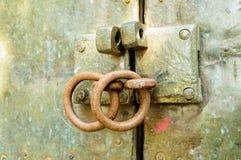 老门开锁 库存照片