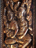 老门的细节在Vientain,老挝 库存照片