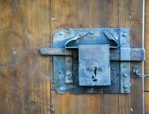 老门锁,佛罗伦萨,意大利 图库摄影