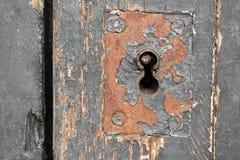 老门锁,特写镜头背景 免版税图库摄影
