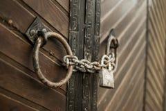 老门锁 免版税图库摄影