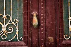 老门细节 免版税库存照片