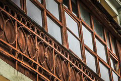 老阳台 免版税库存照片