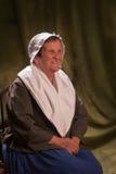 老阿卡迪亚人的妇女 免版税库存照片