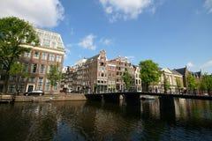老阿姆斯特丹房子 免版税库存图片