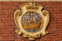 老阿姆斯特丹盾 库存照片
