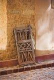 老阿拉伯古典门 图库摄影