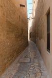 老阿拉伯商人处所的微小的巷道 库存照片