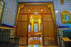 老阿拉伯屏幕在Manial宫殿,开罗,埃及 库存照片