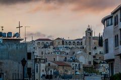 老阿拉伯街道在伯利恒 圣地 库存图片