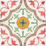 老陶瓷砖。 免版税库存照片