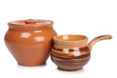 老陶瓷罐 免版税库存照片