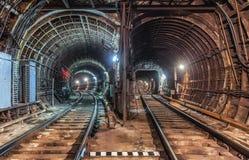 老隧道地铁在莫斯科 免版税库存照片