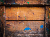 老难看的东西木头箱子 免版税图库摄影