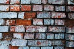 老难看的东西石墙的片段 图库摄影