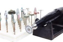 老难看的东西micromotor牙齿实验室 免版税库存图片
