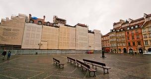 老集市广场在华沙 库存照片