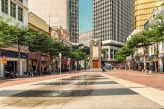 老集市广场尖沙咀钟楼在吉隆坡,马来西亚 免版税图库摄影