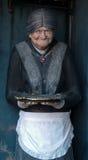 老雕塑妇女 免版税库存图片