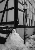 老雪人 免版税图库摄影
