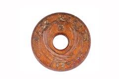 老非洲硬币 免版税库存照片