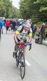 老非职业骑自行车者 库存图片