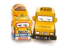 老非洲玩具-布什出租汽车 免版税库存照片