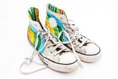 老鞋子炫耀使用非常 免版税库存照片
