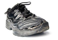 老鞋类零星漏洞 免版税库存照片