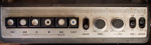 老音乐播放器/收音机盘区按钮 库存图片