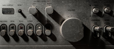 老音量控制的树荫和阴影 库存图片