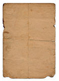 老页纸张弄脏了 图库摄影