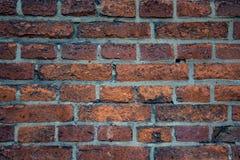 老顶楼都市砖墙 免版税库存图片