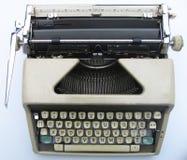老顶部打字机视图 免版税库存照片