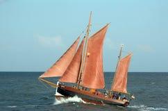 老风帆船 库存图片